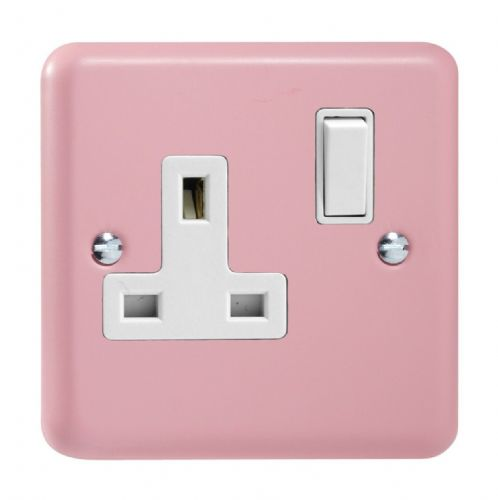 Varilight XY4W.RP Lily Pastel Rose Pink 1 Gang 13A DP Single Switched Plug Socket